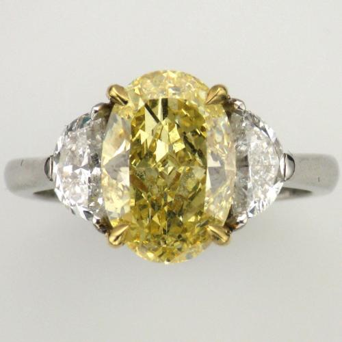 Platinum and 18K yellow gold ring