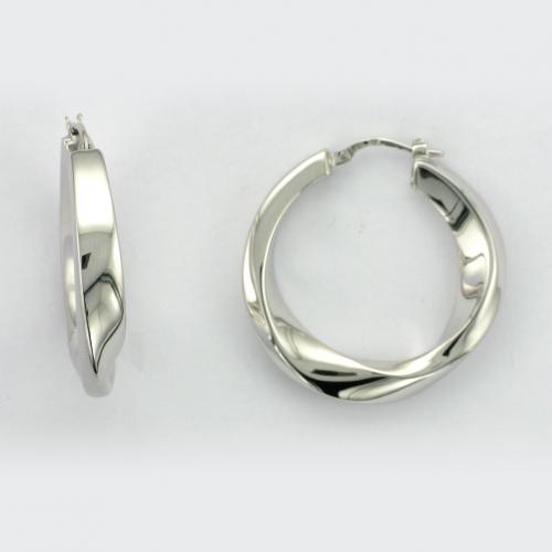 Sterling silver hoop style earring