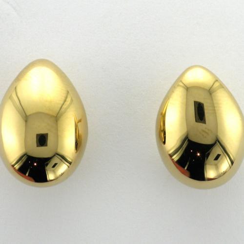 18k yellow gold tear drop design earring