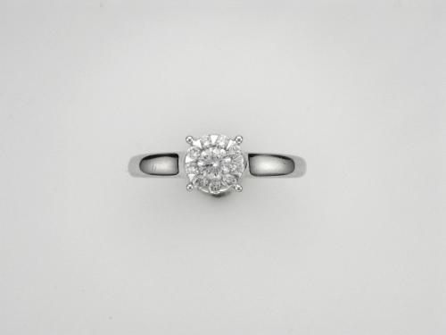 18k White Gold Bouquet Ring