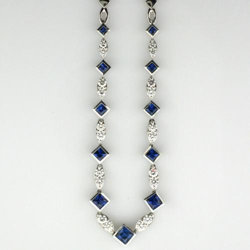 18K White gold 17 ½ inch necklace