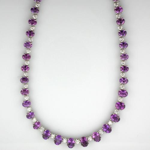 18K White gold 18 ¼ inch necklace