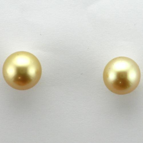 14K Yellow gold post pierced friction style back earrings