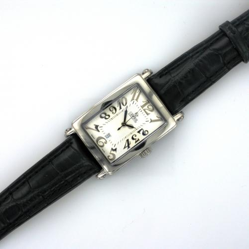 Ladies stainless steel Gevril wrist watch